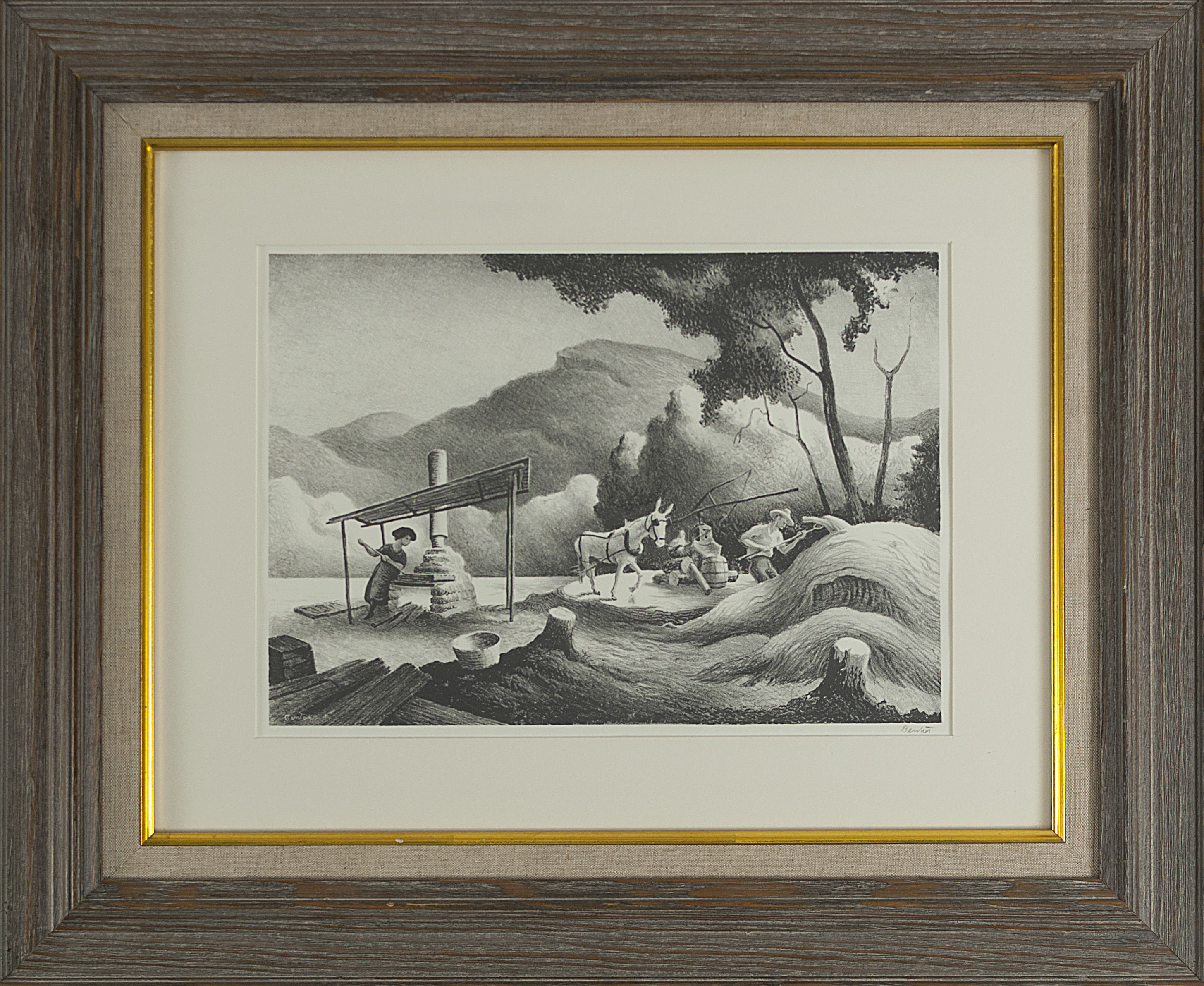 After the Blow Archival Quality Art Print Thomas Hart Benton 1946